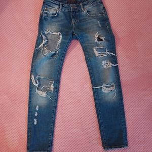 Size 2 Zara Distressed Boyfriend Fit Jeans